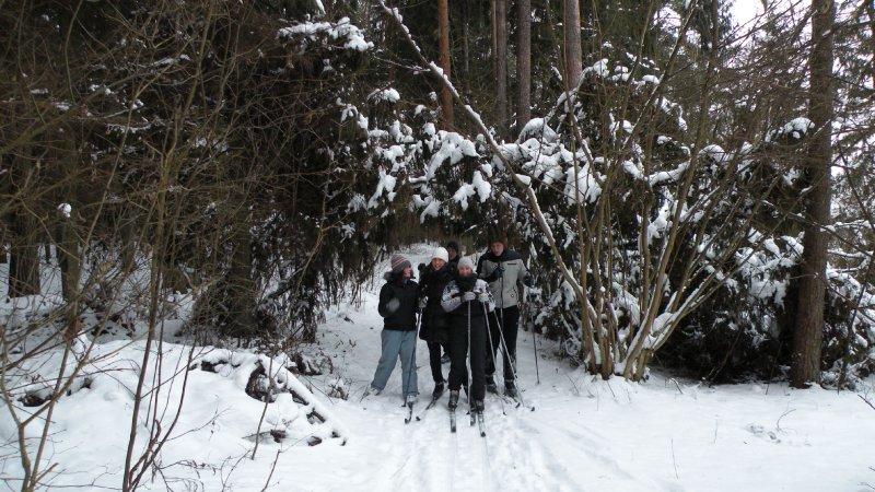 Žygis slidėmis Žvėrinčiaus miške, Birštono raj.
